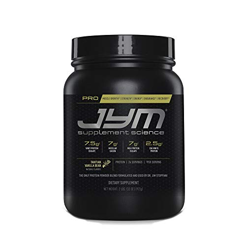 Pro Jym Protein Powder - Egg White, Milk, Whey protein isolates & Micellar Casein | JYM Supplement Science | Tahitian Vanilla Bean Flavor, 2 Lb