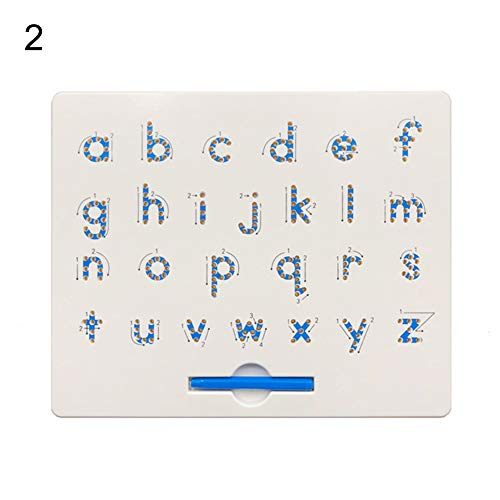 shengyuze Learning & Education Toys Magnetic Beads Drawing Board Mathematics Number Alphabet Educational Kids Toy for Boys and Girls Hobbies Game - 2# from shengyuze