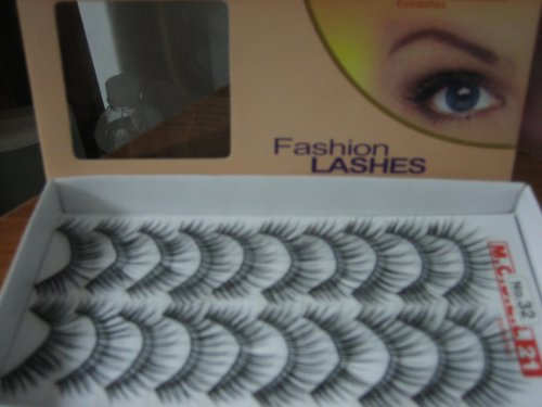 MODEL 21 Lashes False fake No.3, 12, 15, 16, 30, or 32 Eyelashes 10 Pairs