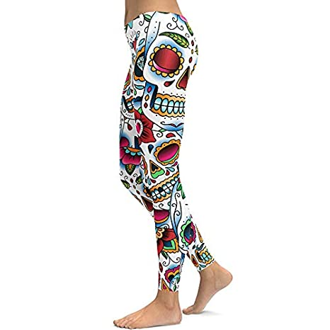 YUJIAGE Pantalones De Yoga Impresión 3D Más Terciopelo Oso ...