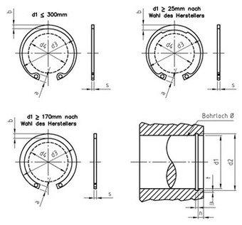 Paket /â 10 St/ück DIN 472 Edelstahl 1.4122 J 80X2,5 mm Sicherungsringe f/ür Bohrungen