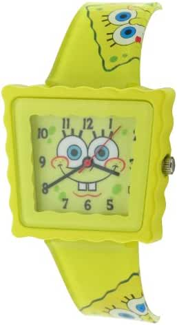 Nickelodeon SpongeBob Squarepants Yellow Childrens Casual Strap Watch SB39A