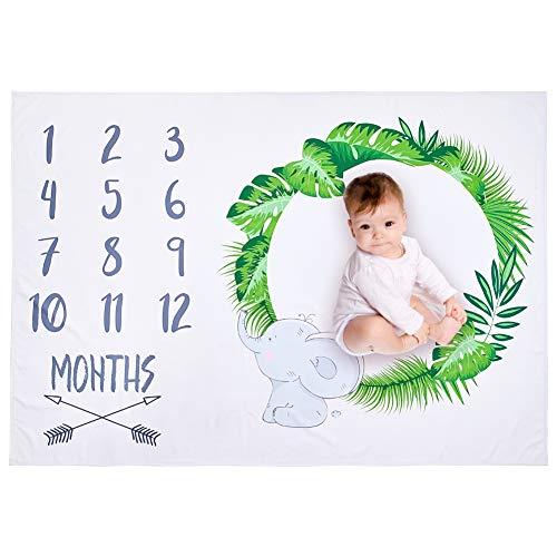 Newborn Baby Infants Milestone Blanket Mat Photography Prop Monthly Growth UK