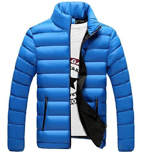 Giù Più Di Collare Formato Basamento Xinheo Del Uomini Pattern3 Tasca Zip Puffer Caldo Addensato qwwSrPWXI