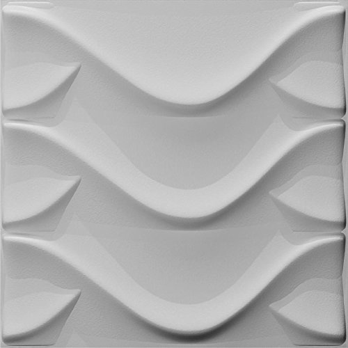 3D geometric design Decoration Brick,Textured Plant Fiber,Contemporary Wall Decor for TV Walls/Bedroom/Living Room Sofa,12Packs