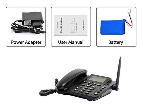 Tel fono fijo oficina quad banda con la tarjeta gsm mesa for La oficina telefono