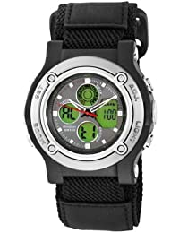Men's 201984 Analog-Digital Black and Gray Watch