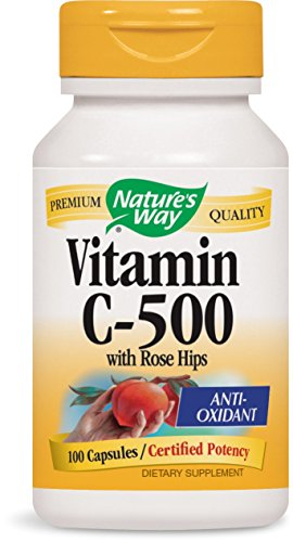 (Nature's Way Vitamin C-500 with Rose Hips; 1000 mg per Serving; 100 Capsules)