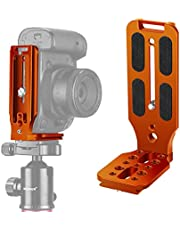 Neewer L Shape Bracket Quick Shoe QR Plate Vertical Shooting Camera L Bracket with 1/4 Inch Screw Arca Swiss Compatible with DJI Osmo Ronin Zhiyun Canon Nikon Sony DSLR Camera (Orange)