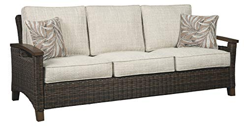- Signature Design by Ashley P750-838 Paradise Trail Sofa with Cushion, Medium Brown
