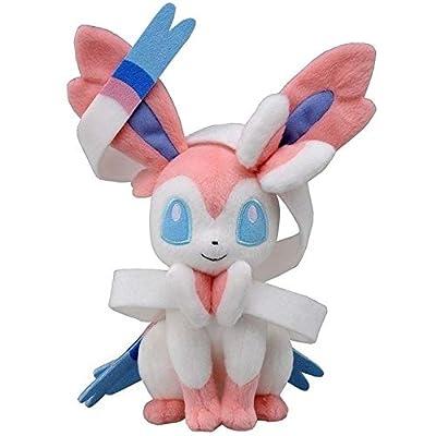 Lotus Job Pocket Monster Sylveon Stuffed Doll Cute Plush Toys: Home & Kitchen