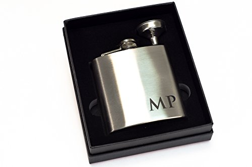 Custom-Engraved-Stainless-Steel-Flask-2pc-Gift-Set-Personalized-with-Any-Text