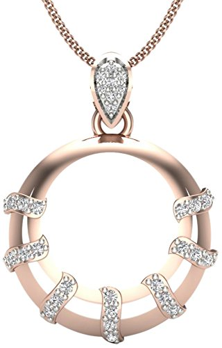 Perrian 18KT Rose Gold and Diamond Pendant for Women