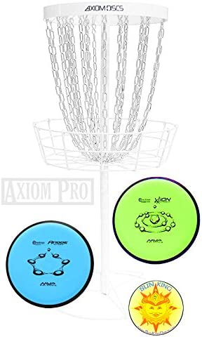 Axiom Pro Disc Golfバスケット(ホワイト) + 2 Discs + Sun Kingステッカー