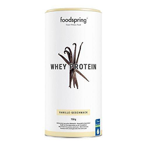 foodspring - Proteína Whey - Sabor Vainilla - Nutre tu ambición - 80% de proteína de suero de leche - Proteína para el desarrollo muscular - 750g: ...