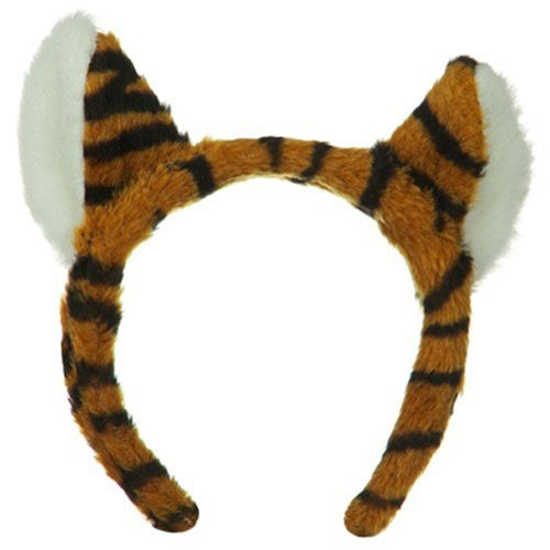 Jacobson Hat Company Women's Tiger Headband, Orange, Adult (Tiger Costume Adults)