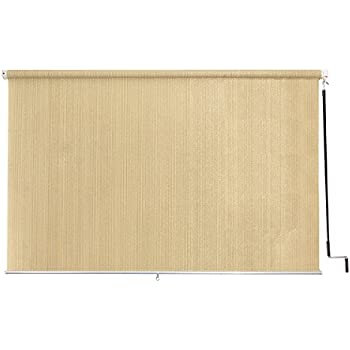 Coolaroo outdoor cordless roller shade 8ft by - Exterior sun blocking window shades ...