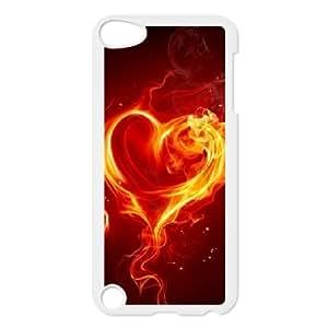 Jumphigh Heart Ipod Touch 5 Cases Fire Heart, Heart [White]