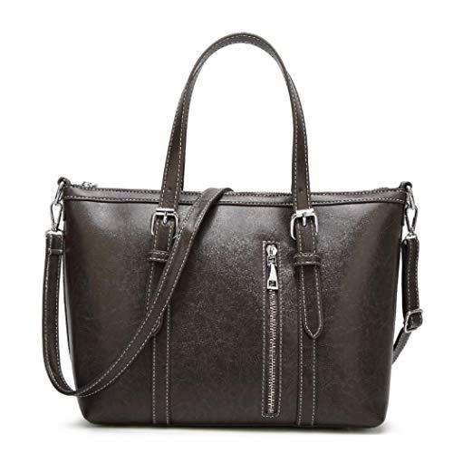 Bolso marrón MANYYSI única Oscuro para mujer talla hombro Gris al dxXFXOwqpa