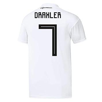 Camiseta Adidas para niños, del equipo de fútbol DFB, réplica de la primera equipación Draxler 140: Amazon.es: Deportes y aire libre