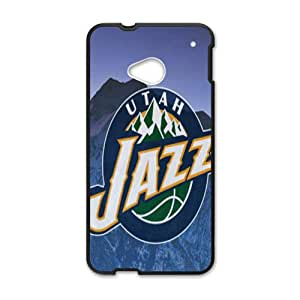 Utah Jazz NBA Black Phone Case for HTC One M7