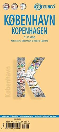Laminated Kopenhagen Map by Borch (English Edition)