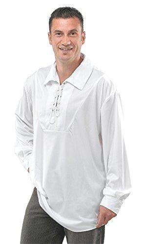 Bristol Novelty AC428 Pirate Shirt Costume, White, Size -
