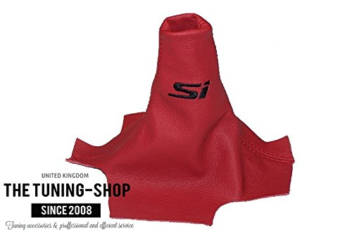 for Honda Civic Sedan 2012-15 Shift Boot Red Leather Si Embroidery The Tuning-Shop Ltd