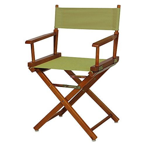 Casual Home 18'' Director's Chair Honey Oak Frame with Olive Canvas by Casual Home
