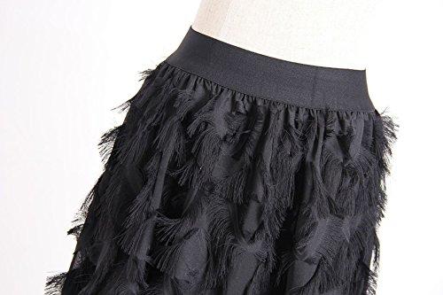 Femmes Jupe mi FuweiEncore Femme Ligne de la Noir de des la Longue Maxi A Jupe lgante Taille Plisse la de Jupe Swing Hqrw0B5q