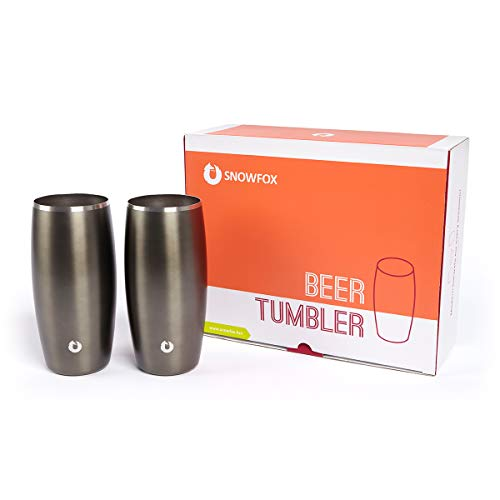Insulated stainless steel beer glasses