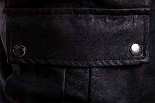 53f83df65a75 Eclair Noir Vêtements Top Mode Cuir Homme Locomotive Classique Jjzxx Faux  Polyester Manteau Pu Automne Printemps ...