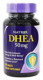 Natrol - DHEA, 50 mg, 60 tablets Pack of 3