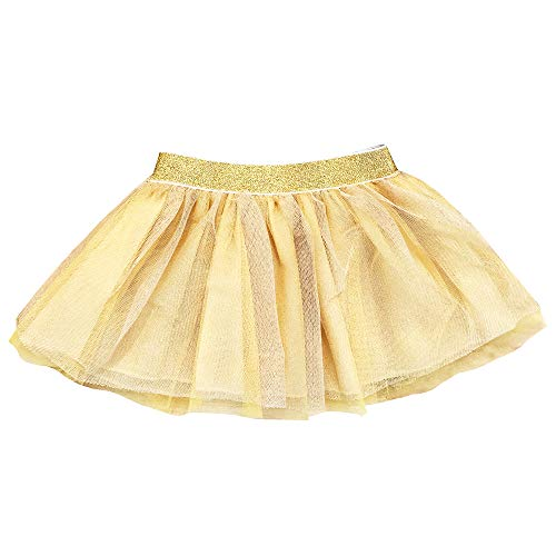 Fayfaire Gold Tutu for Girls | Boutique Quality Baby and Toddler Skirt | 6-12M