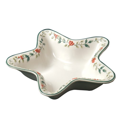 Pfaltzgraff Winterberry Star Shaped Sculpted And Handpainted Serve Bowl (Tableware Collection Winterberry)