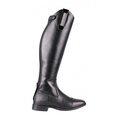 QHP Stiefel-Clip Ariana Leder-Clip mit Strass zum Aufpeppen Ihrer Stiefel Pimp Ihre Stiefel