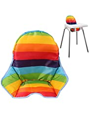Twoworld High Chair Cushion for IKEA Antilop Highchair, Baby High Chair Seat Cover Liner Mat Pad Cushion for IKEA Antilop High Chair Water Resistant (Rainbow Striped)