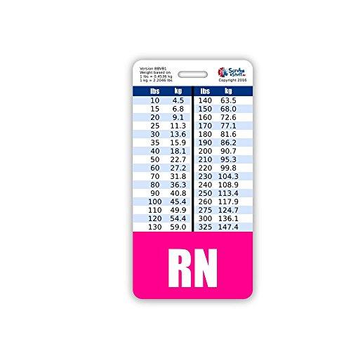 (RN Nurse Badge Buddy w/ Pink Border Vertical)