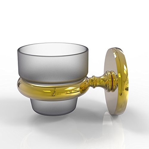 Allied Brass Prestige Skyline Collection Brass Wall-mounted Votive Candle Holder Unlacquered Brass