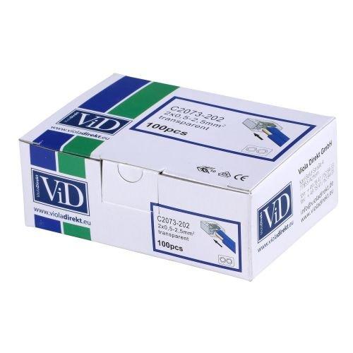 ViD Boite 100 Mini Bornes de Connexion 2 Entr/ées C2073
