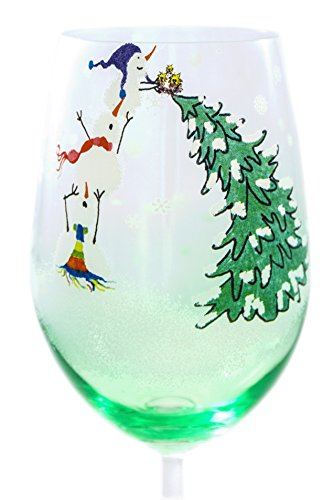 Beautiful Hand Painted Floral Vase (Adorable Christmas Tree Toppers, Hand Painted Tall Wine Glass 20 oz, 10.35 in. Light)