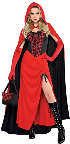 AMSCAN Enchantress Red Riding Hood Halloween Costume for Women, Large, with Included Accessories