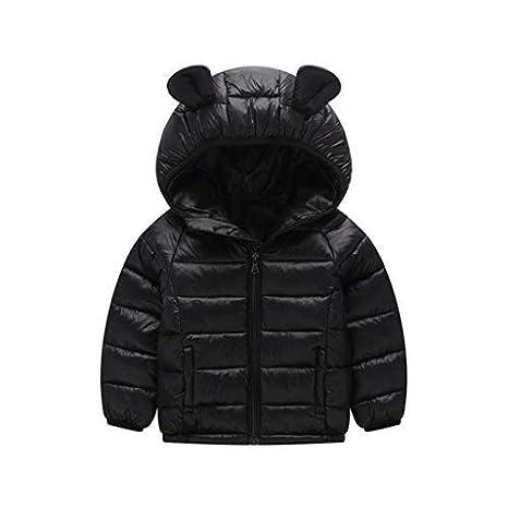 Bambini Giacche Piumino Con Cappuccio Inverno Cappotto Leggero Giubbotti con Cerniera 2-3 Anni