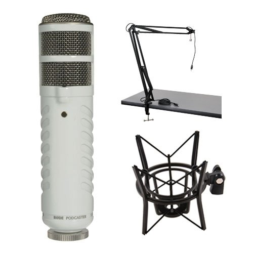 Rode Podcaster Studio Custom Kit: Podcaster, Two-Section Broadcast Arm with Integrated USB Cable, and PSM1 shock mount by Rode