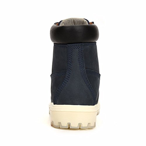 Martin Leather Toe Slip Mens Blue Construction Safety High Composite Work Navy Work Shoes Camel Top Non Boots Boots Insulated YqZXv