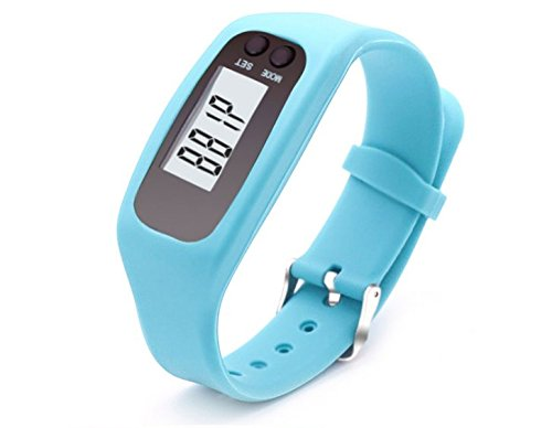 Fitness Tracker Watch, Simply Operation Walking Running Pedometer with calorie burning and steps counting by Bomxy (Blue)