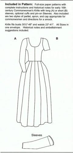 Amazon com: Eary Tudor Commonwomen's Outfit Pattern: Arts