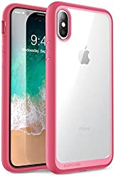 SUPCASE iPhone X Case, Unicorn Beetle Style Premium Hybrid Protective Clear Case Apple iPhone X 2017 Release (Pink)