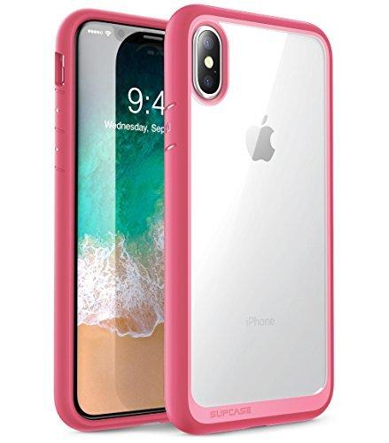 SUPCASE [Unicorn Beetle Style] Case Designed for iPhone X, iPhone XS, Premium Hybrid Protective Clear Case for Apple iPhone X 2017/ iPhone XS 2018 Release (Pink)