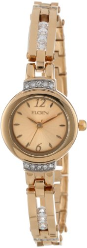 ELGIN Women's EG245 Sliding Austrian Crystal Open Link Br...